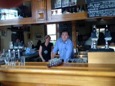 Colin (the manager) behind the bar