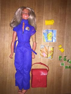 Bionic Woman Kenner Doll with Mission Purse Money Maps Morse Code Brush MakeUp | eBay