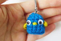 Tiny amigurumi crochet bird. Order now on Fiverr