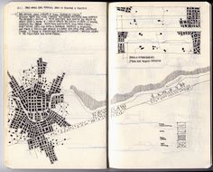 "sandman-kk: "" Relational Cities, by Fabio Alessandro Fusco via Socks Studio Fabio Alessandro Fusco, Italian architect and teacher, made a set of drawings entitled ""Relational Cities"" "" Paper Architecture, Architecture Sketchbook, Architecture Graphics, Sketch Notes, Hand Sketch, Moleskine, Urban Analysis, Site Analysis, Model Sketch"