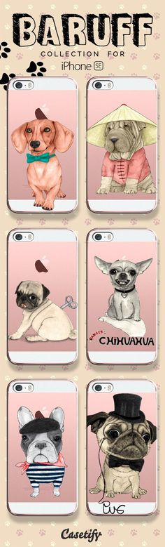 For dog lovers! Take a look at these cases featuring dogs designed by @Barruf Art now! www.casetify.com/... | @Casetify