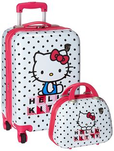 fa009bcfeb Heys america hello kitty 2 piece set 21 carry on beauty case. Trendy Bags ·  Luggage