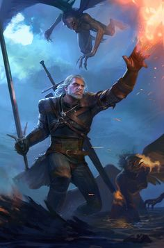 witcher fanart , Maxim Marenkov on ArtStation at https://www.artstation.com/artwork/oKBLz?utm_campaign=digest