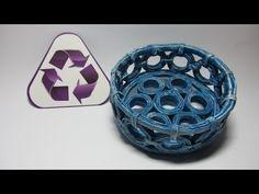 Reciclaje: Plato decorativo hecho con revistas. Recycling: a dish made with magazines - YouTube