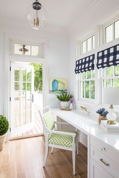 Hamptons Inspired Home With Coastal Colors Home Office Design, Home Office  Space, Office