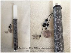 Helen's crafting creations: Πασχαλινές λαμπάδες 2015 #6 Easter Ideas, Easter Crafts, Orthodox Easter, Lent, Crafting, Xmas, Candles, Handmade, Hand Made
