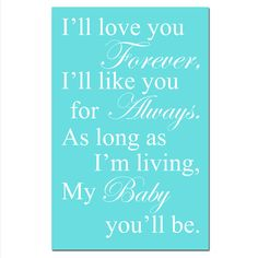 My Baby Youll Be - 13x19 Print - Modern Nursery Decor - Choose Your Colors - Shown in Aqua, Pink, Gray, Yellow, and More via Etsy