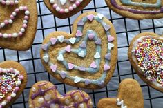 Gingerbread Hearts Valentine's Day Cookies Recipe