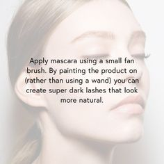 Mascara secret for naturally long-looking lashes