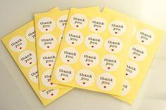 """Stickers """"Thank's You"""" par 10"""