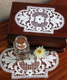 Advanced Embroidery Designs - FSL Battenberg Regency Floral Lace Doily