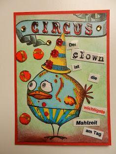Schokoladina ... stamping bis die Heide wackelt : # 19  .... Ha ... Ha ... said the Clown :-)