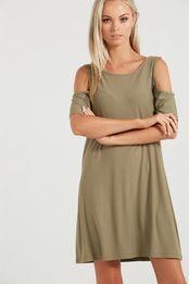 leonie cold shoulder dress
