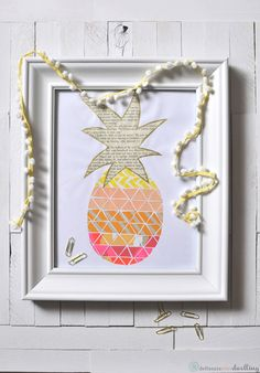 DIY: pineapple washi tape print. For more creative inspiration go to www.canberracreatives.com.au