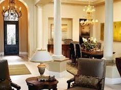 Image result for living room dining room combinations with pillars