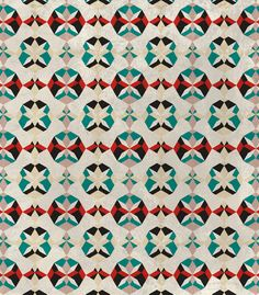 Abstract Pattern - Teal & Red by Georgiana Paraschiv