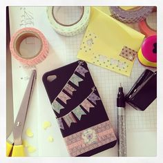washi tape cell phone cover