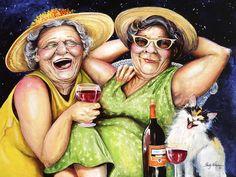 Bahama Mamas Painting  - Bahama Mamas Fine Art Print.    Shelly Wilkerson