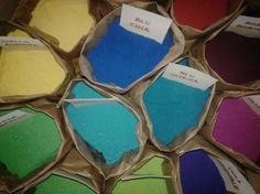 Le terre naturali come materie prime dei nostri colori.