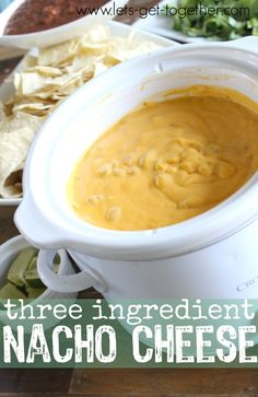 Three Ingredient Nacho Cheese Sauce - two ingredients added to canned nacho cheese make all the difference!