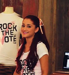 Ariana Grande she is so freaking flipping gorgeous!! :D