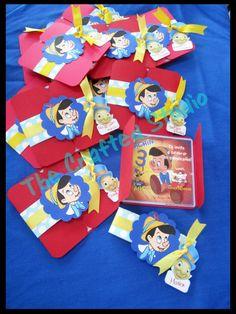 Invitaciones de cumpleaños con tema de Pinocho por TheCraftedStudio