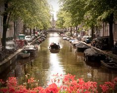 Amsterdam PhotoCanal HousesBoat RideRed by sarahnatsumi on Etsy, $30.00