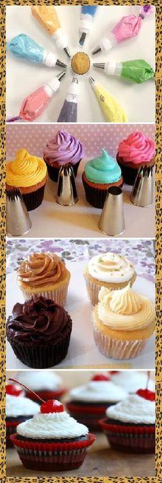 8 Técnicas geniales para decorar tus cupcakes! #recipe #casero #torta #tartas #pastel #nestlecocina #bizcocho #bizcochuelo #tasty #cocina #cheescake #helados #gelatina #gelato #flan #budin #pudin #flanes #pan #masa #panfrances #panes #panettone #pantone #panetone #navidad #chocolate Si te gusta dinos HOLA y dale a Me Gusta MIREN..