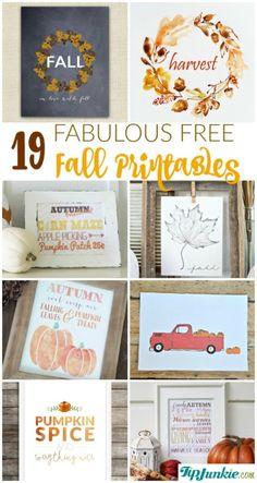DIY 19 imprimables gratuits autour de l'automne. (Fabulous Free Fall Printables-jpg) (http://www.tipjunkie.com/post/fabulous-free-fall-printables/)