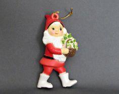 Vintage Santa Ornament. Christmas Decor/Ornament/Car mobile.