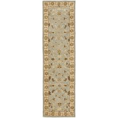 Safavieh Handmade Heritage Kashmar Light Blue/ Beige Wool Rug (2'3 x 20') | Overstock.com Shopping - Great Deals on Safavieh Runner Rugs