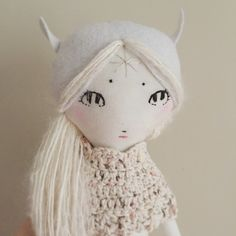 Forest Creature Dolls: Nordic fairy in progress