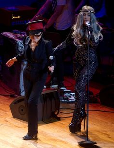 Lady Gaga and Yoko Ono hit the stage together--this is the scariest thing I have ever heard of!