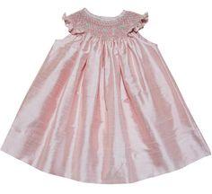 Anarose Pink Silk Bishop Dress for Girls--Carousel Wear - 1