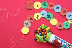 mini birthday garland and mini m 13 oz or less happy mail. Birthday Garland, Happy Birthday Banners, Birthday Gifts, Birthday Parties, Birthday Fun, Birthday Ideas, Cool Gifts, Diy Gifts, Missionary Care Packages