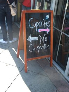 always go toward the cupcakes. duh.