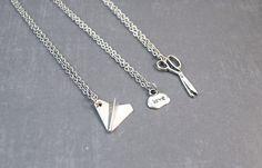 Rock Paper Scissors Necklace  Friendship Pendant  by DoodieBear, $30.00
