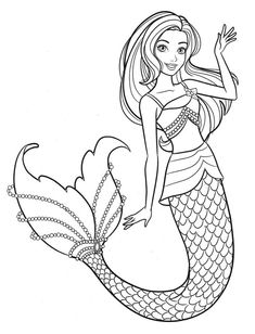 Barbie Coloring Pages, Mermaid Coloring Pages, Easy Coloring Pages, Coloring Pages For Girls, Free Printable Coloring Pages, Coloring Books, Barbie Colouring, Princess Coloring Sheets, Frozen Coloring Sheets