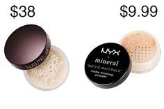 "This Laura Mercier devotee was converted to NYX after testing the dupe version. Get NYX Matte ""Set It & Don't Fret It"" Finishing Powder for $9.99.Savings: $28.01"