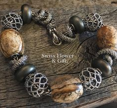 Designed by Heidi.  So easy to love Elfbeads.  Shop live images at http://www.swissflowerandgift.com/jewelry.html. #swissflowerandgift #elfbeads