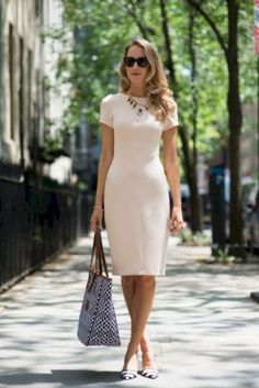 4f95c08cf7e Zara White Short Sleeve Tailored Bodycon Dress by The Classy Cubicle. a  smart look for a certified whitewater river rafting guide