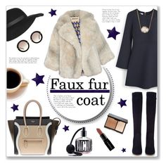"""Faux fur cropped coat"" by bogira ❤ liked on Polyvore featuring MANGO, Gianvito Rossi, CÉLINE, Jules Smith, Topshop, Miu Miu, Smashbox, A.W.A.K.E., Victoria's Secret and women's clothing"