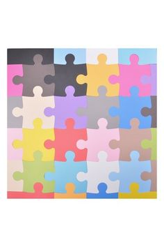 Using soft, playful foam, the Tadpoles Puzzle Playmat Set provides a fun, safe environment for your little one. Made of large, interlocking foam puzzle pieces, the mats create a soft base for your child, and add a great look to any room.   - Includes 16 foam puzzle pieces, and 16 border pieces