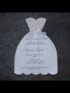 Handmade wedding dress bridal shower invitation you could send them bridal shower invitations filmwisefo