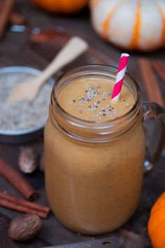 Celebrate the season with this protein-packed Pumpkin Chia Smoothie. It's perfect for breakfast or dessert, or both!