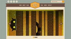 Retro Style Home page layout Fox