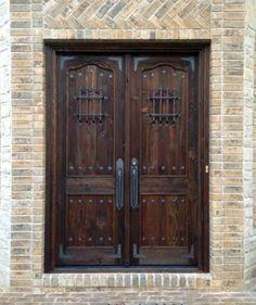 Rustic Fiberglass Prehung Arched Door Unit With Speakeasy