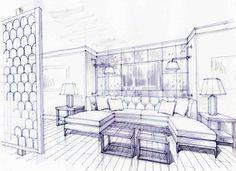 St. Regis - Nassau, Bahamas design concept rendering realized when a senior designer at the offices of Davis Easton