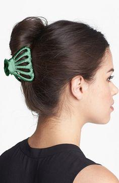 Women's L. Erickson Covered Octopus Clip - Green