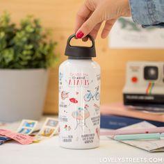 Botella de aluminio Ce qui me charme a Paris #lovelystreets #lovelystreetsparis #paris #aluminium #bottle #travel #explore